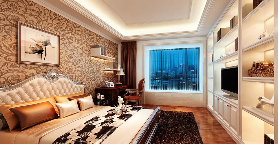 客厅的设计以石线条,艺术漆作为主材料,营造出一个现代的欧式气氛图片